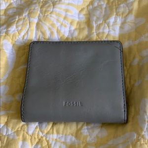 Leather fossil wallet